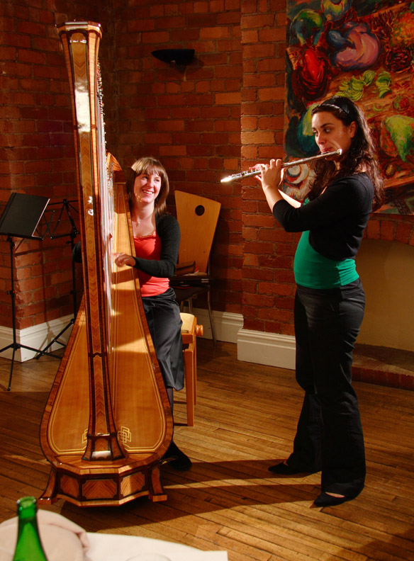 harpist Verity Weatherburn & flautist Carla Sousa - Nov '07
