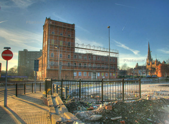 the old Brown Brothers building in Salford - Feb '08